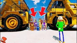 WILL BALDI CRUSH ALL THE ANIMATRONICS? (GTA 5 Mods FNAF Kids RedHatter)