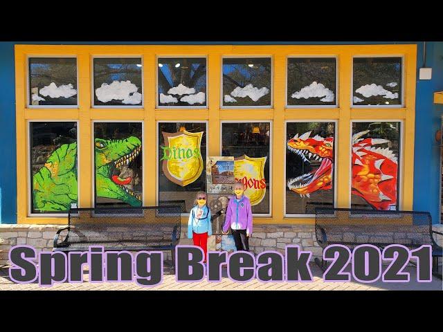 SPRING BREAK 2021 WITH KIDS | San Antonio Zoo Dinos & Dragons | Family Travel Made Easy | Small Kids