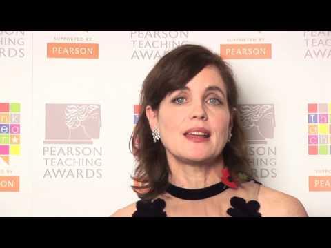 Actress Elizabeth McGovern thanks her teacher Christine Adams