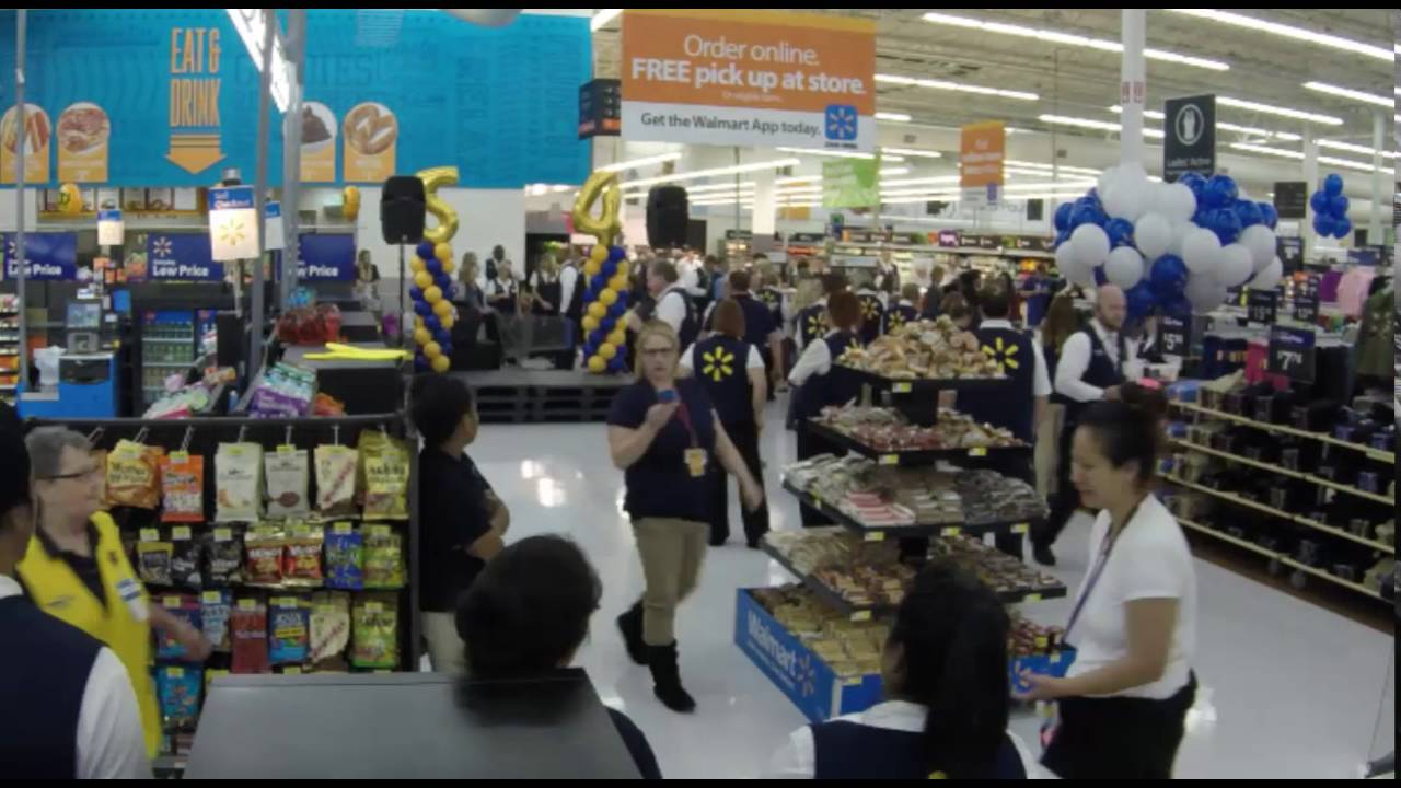 time lapse of a walmart supercenter re grand opening ceremony in time lapse of a walmart supercenter re grand opening ceremony in springdale ar
