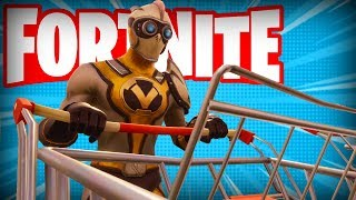 CRAZY STUNTS WITH *NEW* Driveable Shopping Cart is HILARIOUS! (Fortnite Battle Royale Funny Moments)