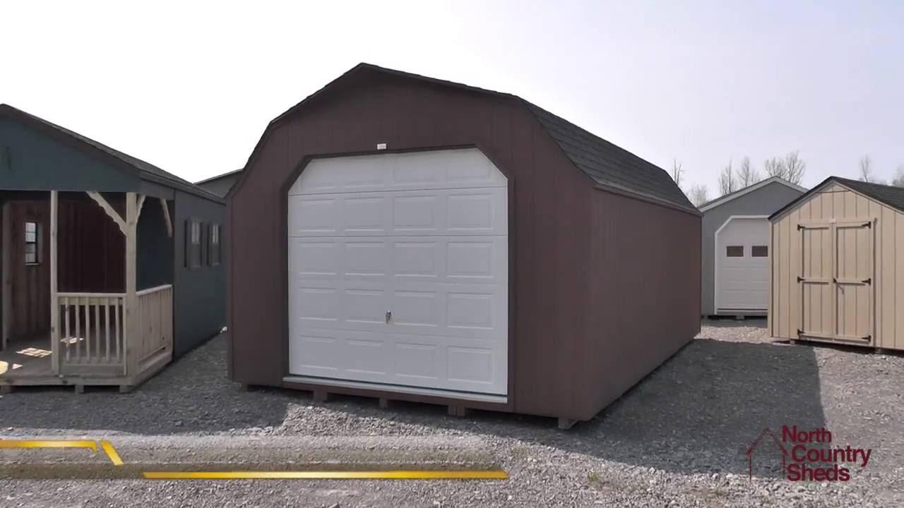 14u0027 x 24u0027 prefab garage shed high barn style shed large storage sheds youtube