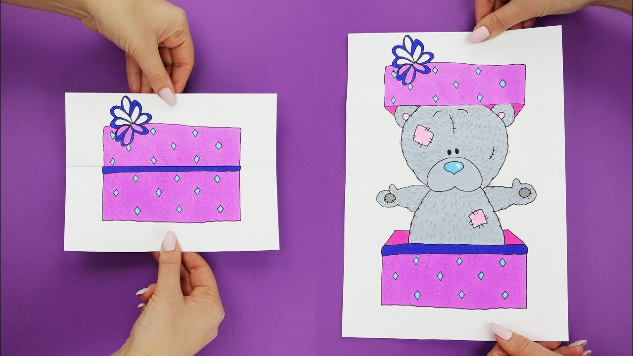 How To Draw Picture With A Secret Slider Paper Game