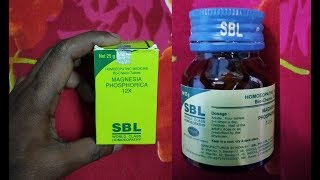 Magnesia phosphorica 12X SBL world class Homeopathy full review benefits and uses in Hindi..??