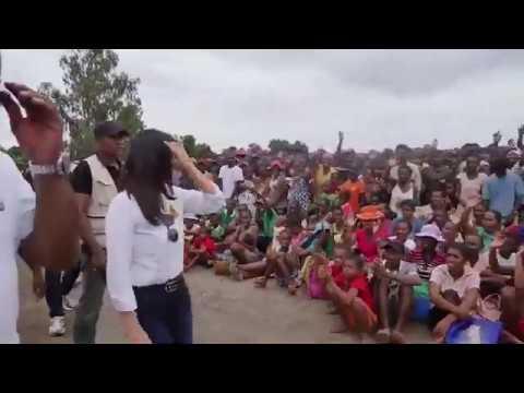 Mialy R. Rajoelina Auprès Des Victimes Malgaches de la Montée Des Eaux.