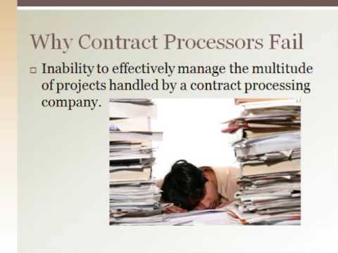 contract loan processor skills contract processing business - Contract Loan Processing