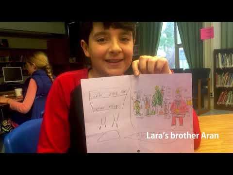 Lara Kevorkian Scherzer with her school friends asking Prime Minister Justin Trudeau for help