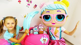 Birthday of LOL doll. Toys and  gifts from Super Polina. New compilation.