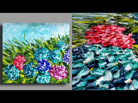 SIMPLE  Palette Knife Painting Techniques – Painting Lessons – Large Canvas Art – Abstract Painting