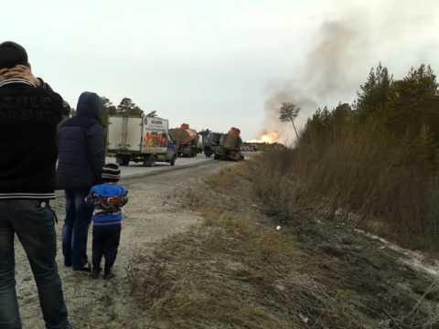 Взрыв на нефтепроводе 16 апреля 2016 года возле Лянтора
