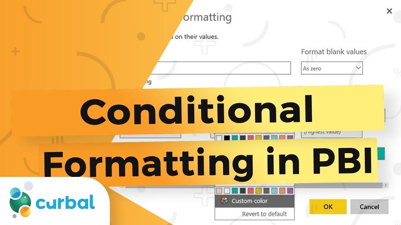 Power BI Tips – Conditional Formatting