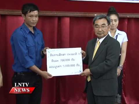 Lao NEWS on LNTV: The Korean co. also provided 20 scholarships to outstanding Lao students.9/7/2015