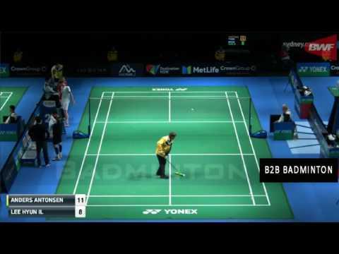 LEE Hyun Il vs Anders ANTONSEN Badminton 2017 Australian Open