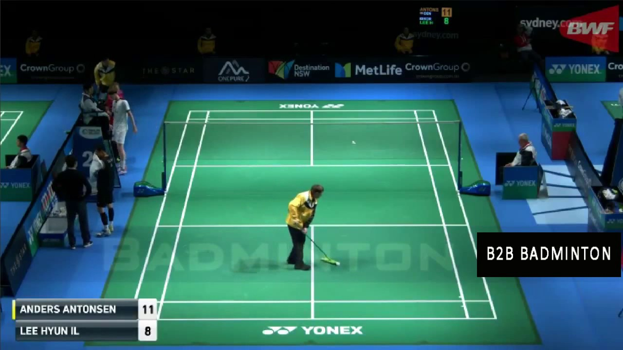 LEE Hyun Il vs Anders ANTONSEN Badminton 2017 Australian Open