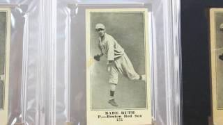 Babe Ruth Rookie Card Collection Sporting News Famous Barr