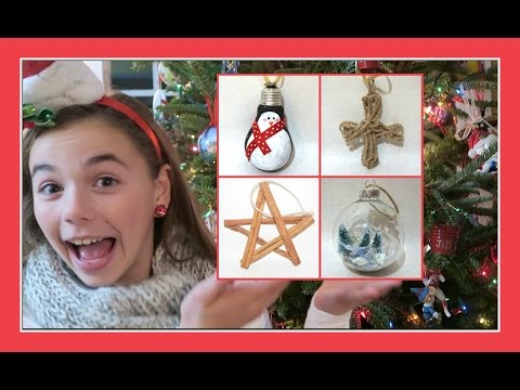 DIY CHRISTMAS ORNAMENTS | Flippin' Katie