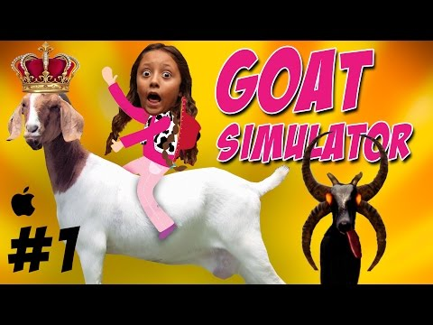 Lets Play Goat Simulator: HA HA HA HA HA HA - Lex gets Evil & Queen Goats (Part 1 - IPAD)