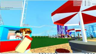(OLD) ROBLOX: Parasise Pier at DCA full tour at Theme Park Tycoon 2 (Before Refurbirshment)