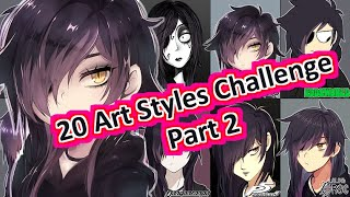 【Speedpaint】20 Art Styles Challenge Part 2