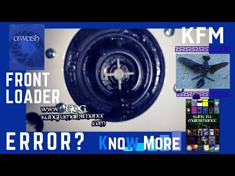 Front Loader Clothes Washer Error Code A 10 How To Unclog Washing Machine Pump Repair Video