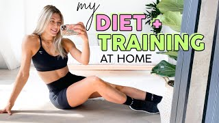 How I'm Staying HEALTHY at HOME // Training, Diet + Tips!