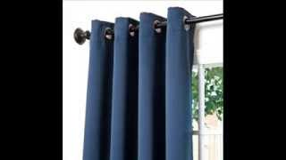 Solid Grommet Top Thermal Insulated Blackout Curtain 63
