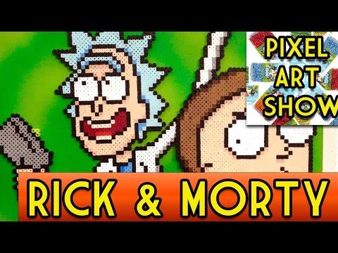 Perler Bead Tutorial Rick and Morty Project - Pixel Art Show