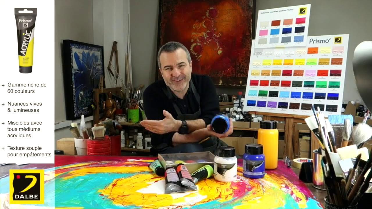 test et pr sentation de mat riel de peinture acrylique l 39 acrylique fine prismo2 de dalbe youtube. Black Bedroom Furniture Sets. Home Design Ideas