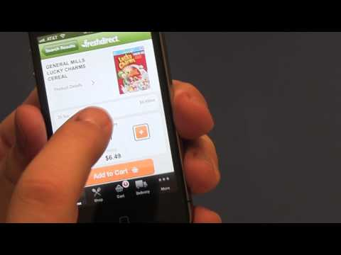 Accessible iPhone Apps: FreshDirect