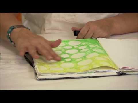 Stenciling with Gelatos: Donna Downey Series