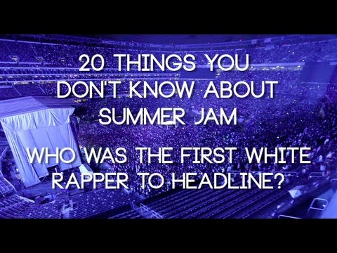 Who was the first white rapper to headline Summer Jam?