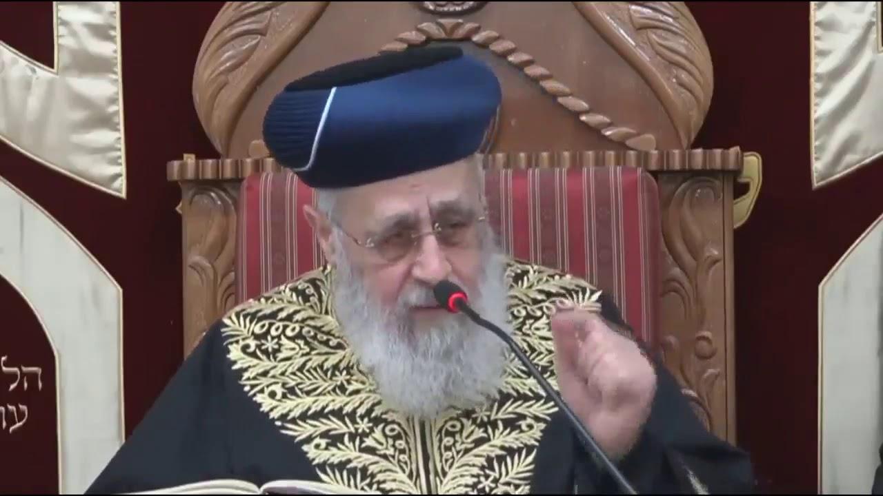 מרן הראשל רבי יצחק יוסף  עניית אמן יהא שמיה רבא
