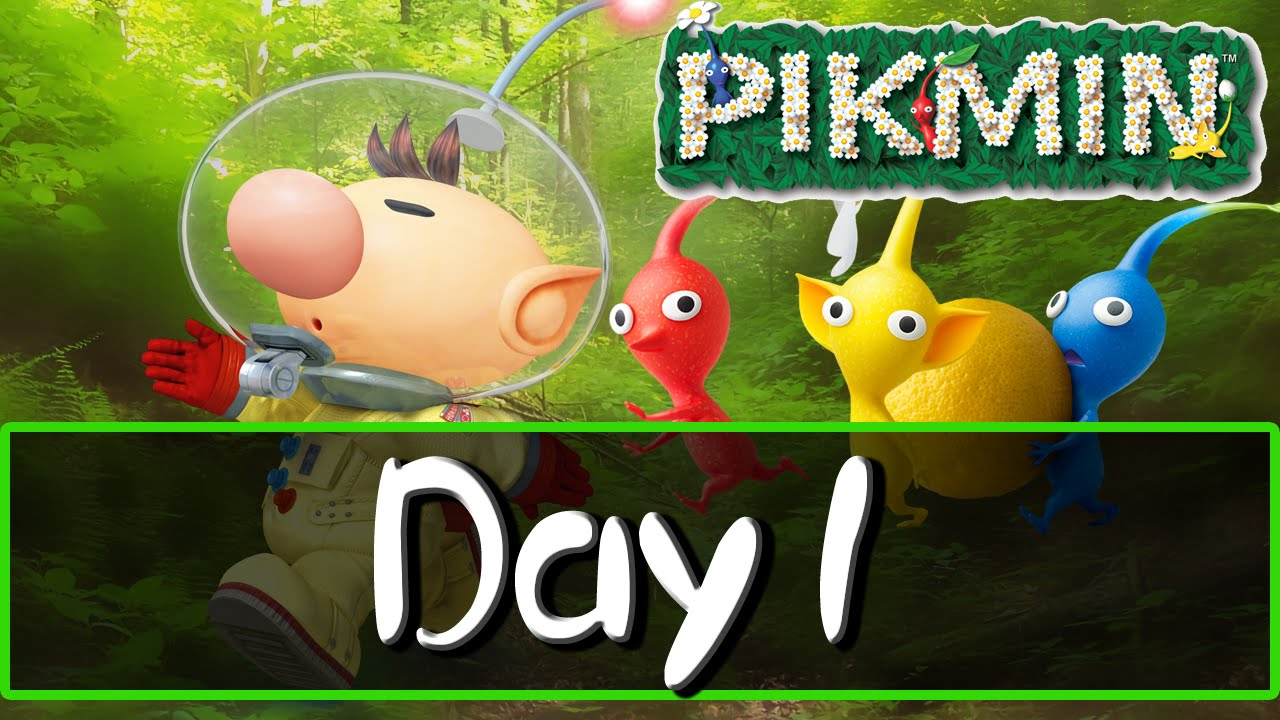 Pikmin 1 Gc Wii Day 1 Youtube