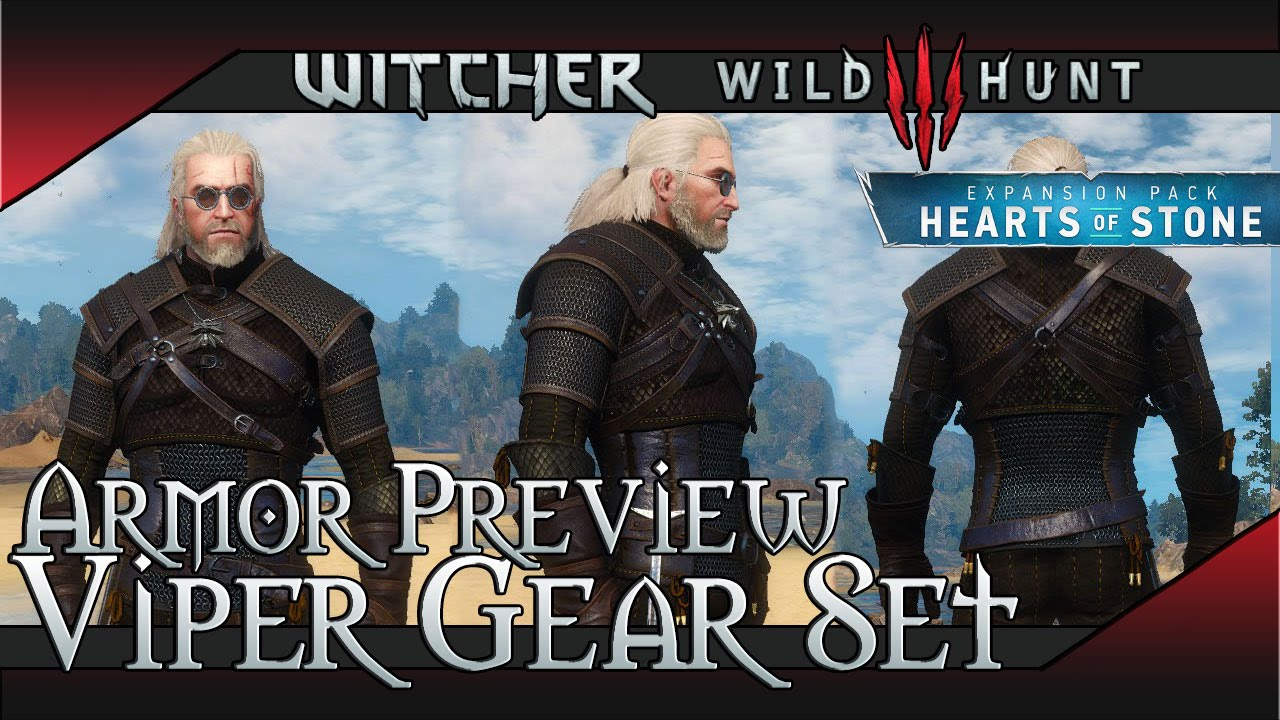 The WItcher 3: Hearts of Stone Venomous Viper Armor Set Showcase (Looks and  Stats)