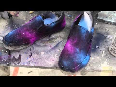 DIY BEST Spray Paint Galaxy Shoes