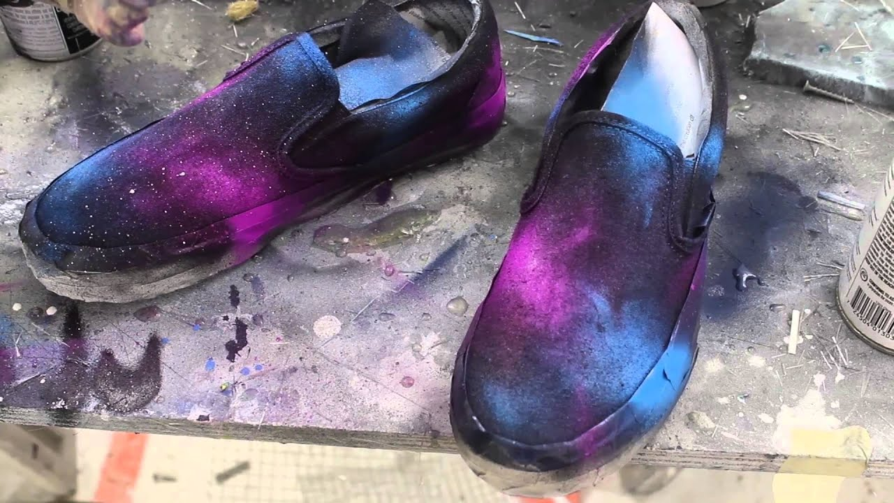 diy galaxy shoes