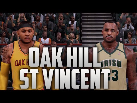 NBA 2K16 St. Vincent St. Mary & Oak Hill (Highschool Lebron James & Carmelo Anthony) Tutorial