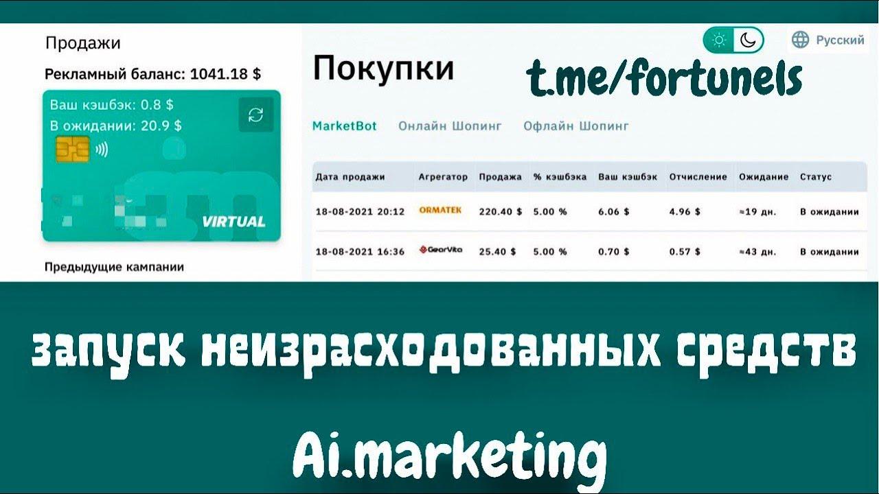 #AiMarketing Запуск неизрасходованных рекламных бюджетов