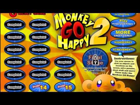 Счастливая обезьянка 2 прохождение (Monky GO Happy 2 Walkthrough)