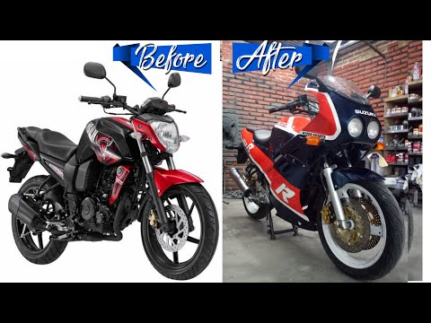 BIKE MAKEOVER INTO GSXR OLD SLABSIDE MODEL - Timelapse Progress ( Modifikasi Motor Byson )