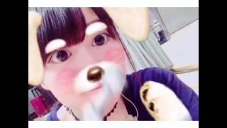 Instagramにアップロードされた小倉唯さんのSNOW動画です。(BGM付けてあ...