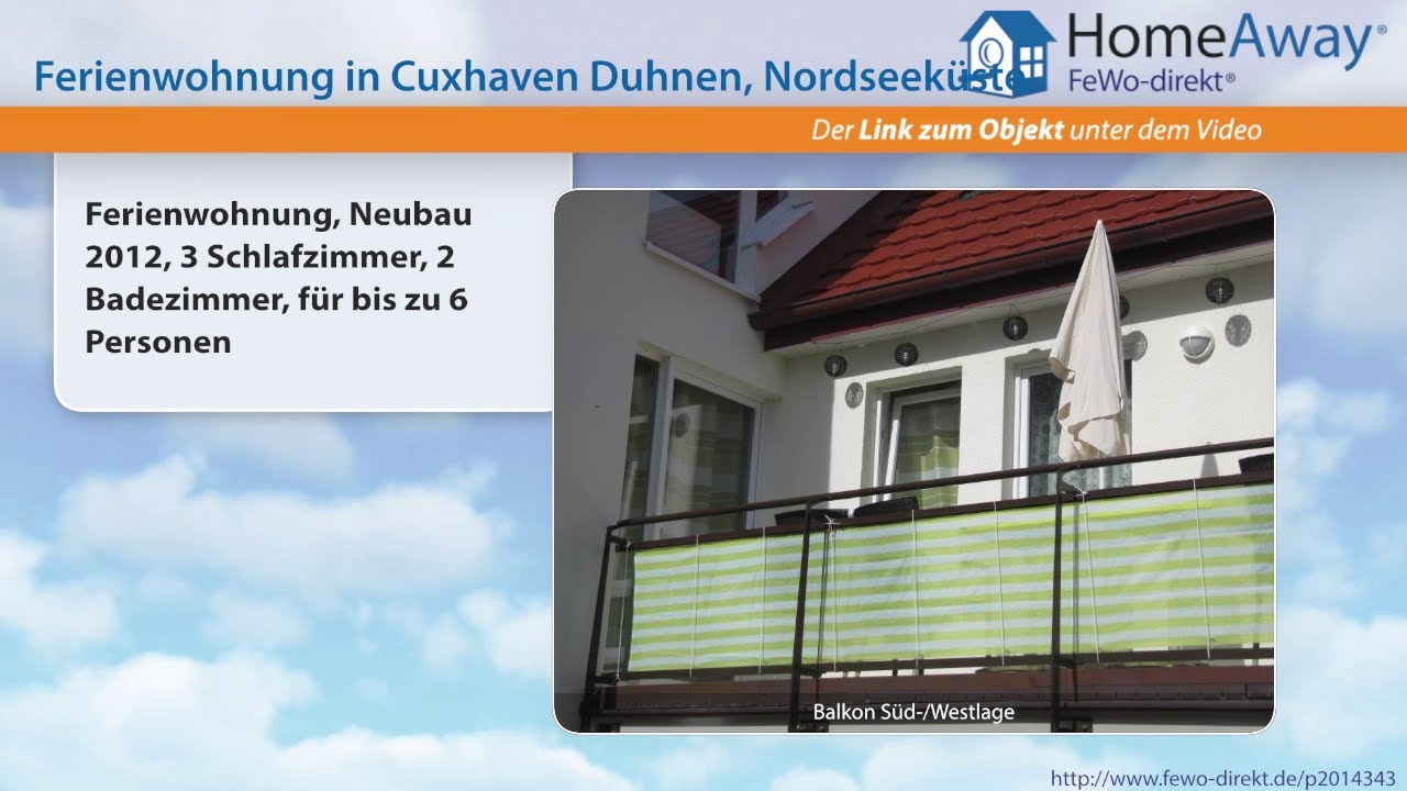 Cuxhaven: Ferienwohnung, Neubau 2012, 3 Schlafzimmer, 2 Badezimmer ...