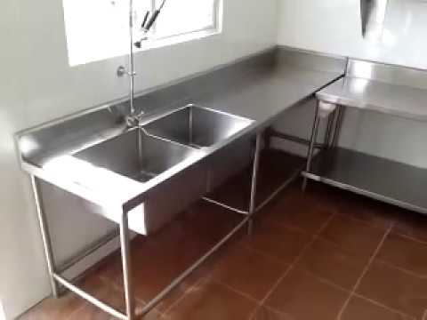Cocinas industrial youtube for Mueble de pared industrial
