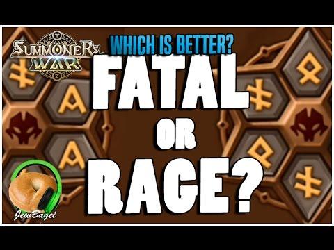 SUMMONERS WAR : Fatal Runes VS Rage Runes - Which is Better?