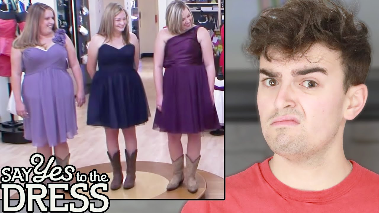 Reacting to GROSS Say Yes To The Dress Bridesmaids Looks (waste of fabric)