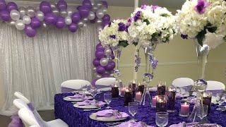 HOW TO DECORATE A MOCK SET-UP FOR A GLAM WEDDING OR EVENT