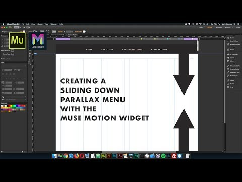 Creating a Sliding Down Parallax Menu with the Muse Motion Widget | Adobe Muse CC | Muse For You