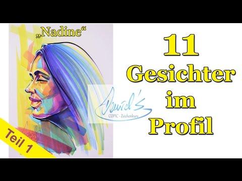 11 Gesichter zeichnen lernen COPIC – Teil1