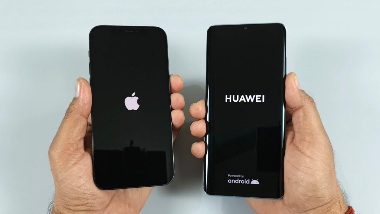 iPhone 12 vs Huawei P30 Pro Speed Test u0026 Camera Comparison