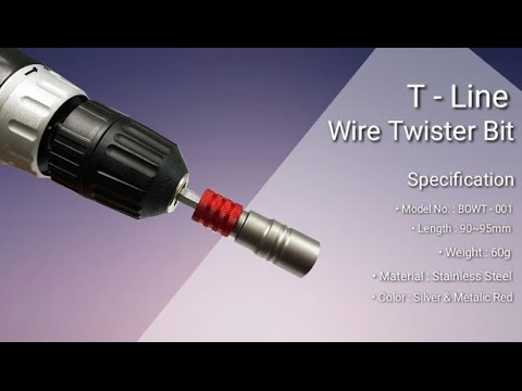 T-Line | Wire Twisting Tool for electricians and constructio